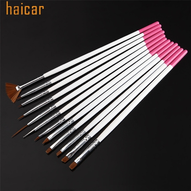 Haicar Amour Beaute Feminine 12 Pcs Ensemble Nail Art Pen Brosses