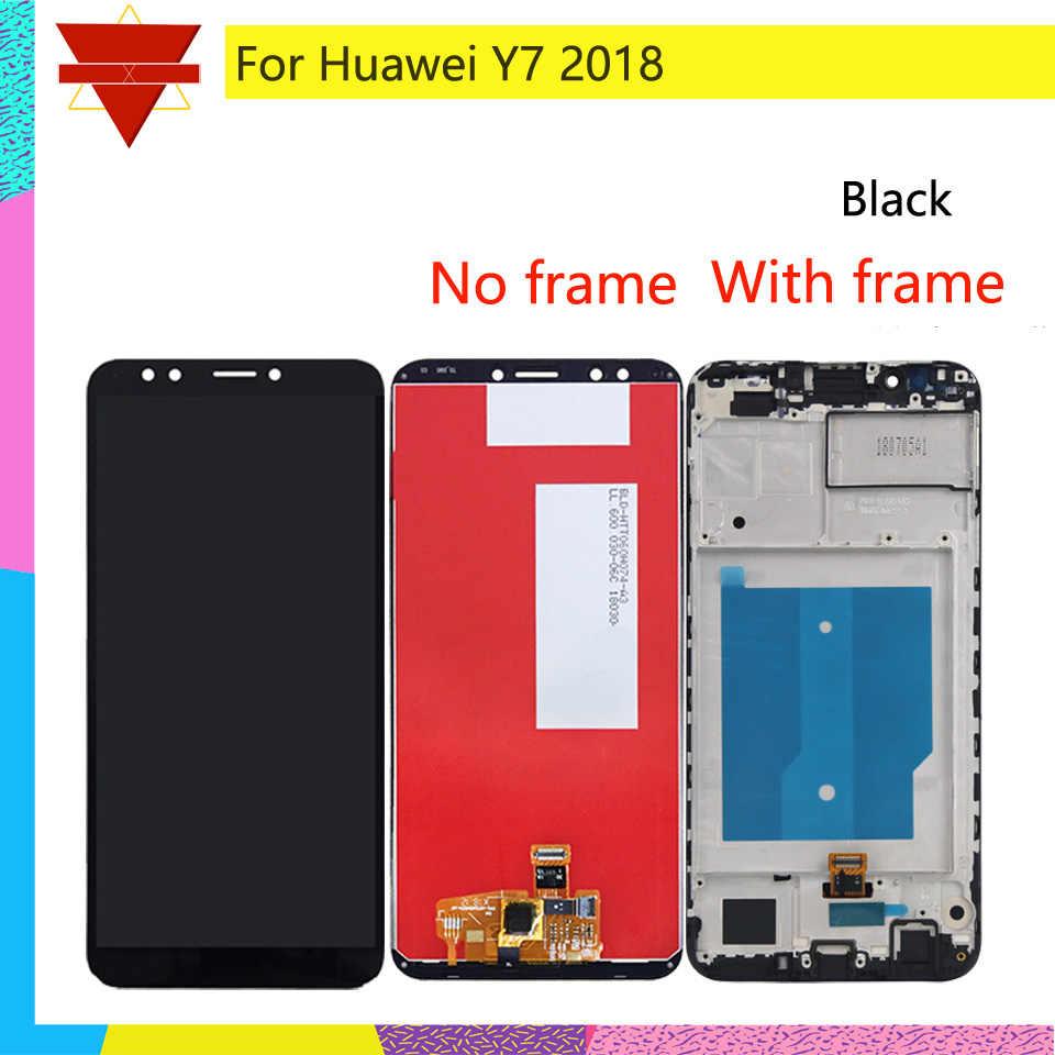 Original Đối Với Huawei Y7 2018 LCD LDN-L01 LDN-L21 LDN-LX3 LCD Hiển Thị Màn Hình Cảm Ứng Lắp Ráp Với Khung Y7 Thủ 2018 LCD digitizer