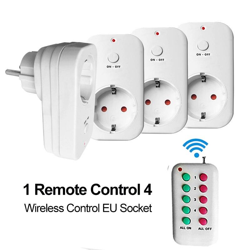 Control Inalámbrico RF Enchufe de LA UE de LA UE Toma de Corriente Del Enchufe de Pared Outlet RF433 Control Remoto Encender/Off Electrodomésticos Casa Inteligente 110-240 V