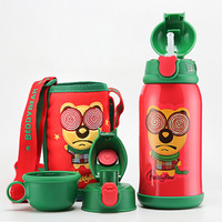 600ml Animal CartoDouble Wall Stainless Steel Water Bottle gift For Kids Cute thermos cup Drinkware home travel school water