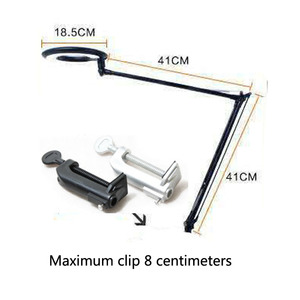 LED 8X Magnifier Lamp, Swivel Arm Clip-on Table desk Light repair cosmetology Clamp Beauty Skincare Manicure Glass Lens Tattoo