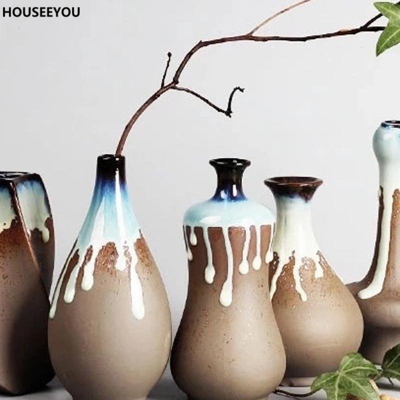 moderno minimalista creativo florero de cermica flor grande hogar decorativo artesanas floreros accesorios de decoracin del
