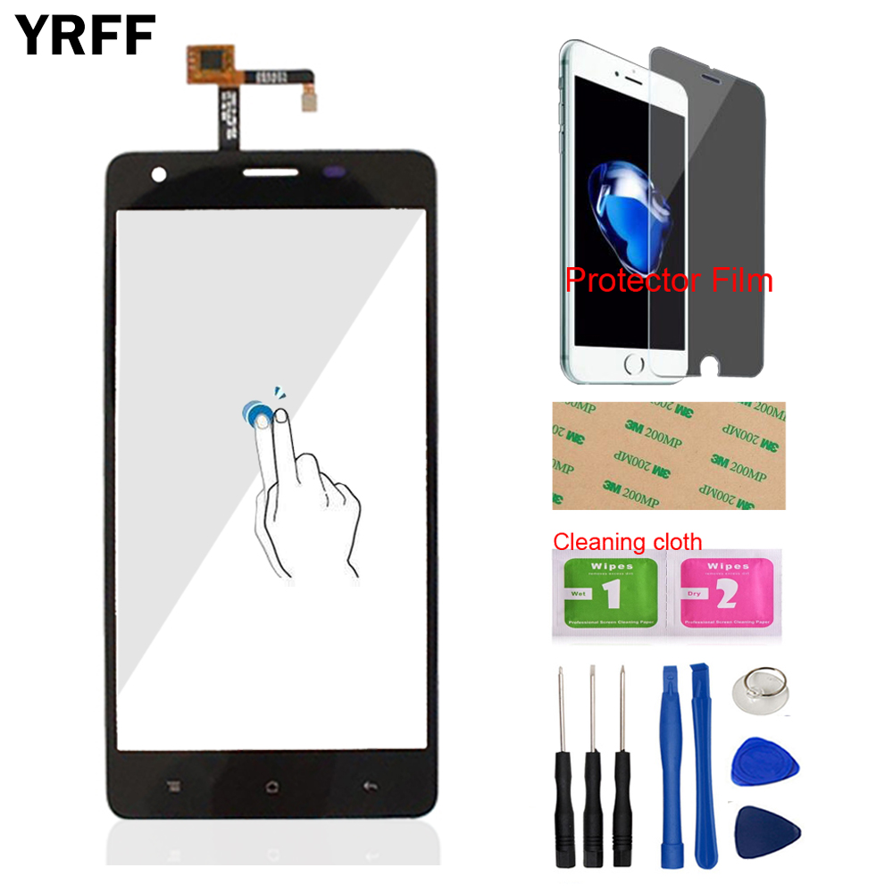 YRFF AAA Mobile Phone For Oukitel K6000 Pro TP Touch Screen Touch Digitizer Panel Glass Tools Free Protector Film + Adhesive