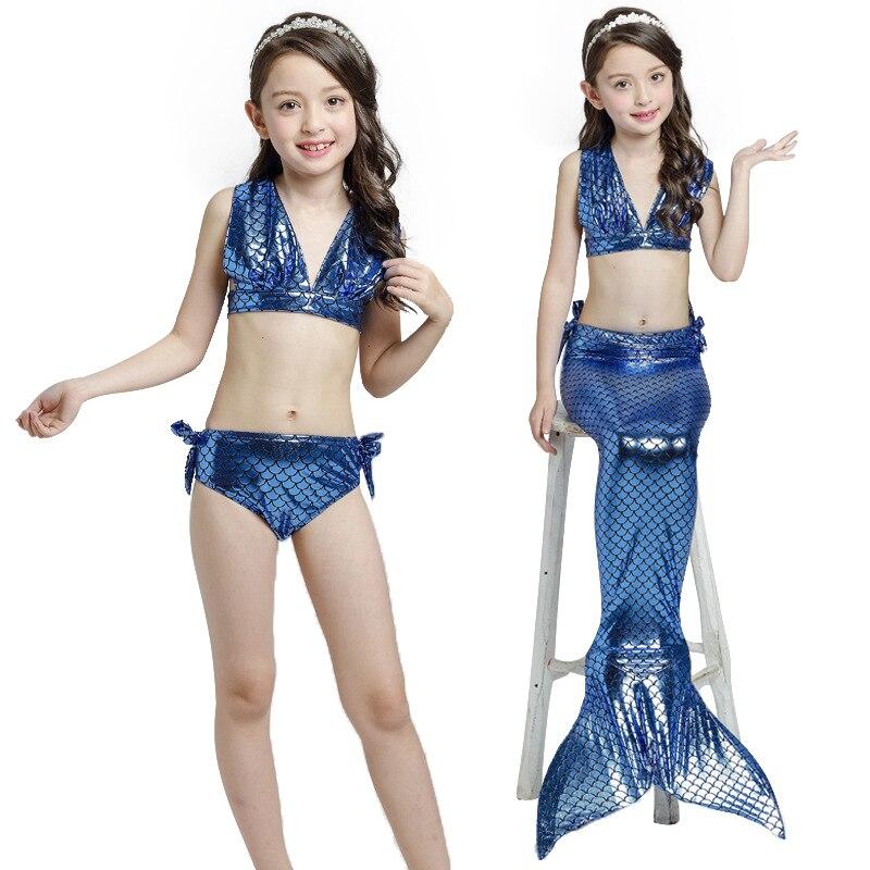 3-8 years Children swimming suit Girls bikini Divided into three-piece mermaid Swimsuit
