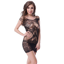 H3124 Ohyeah brand new lenceria sex black hollow out see through floral lace sex lingerie transparent plus size fashion babydoll