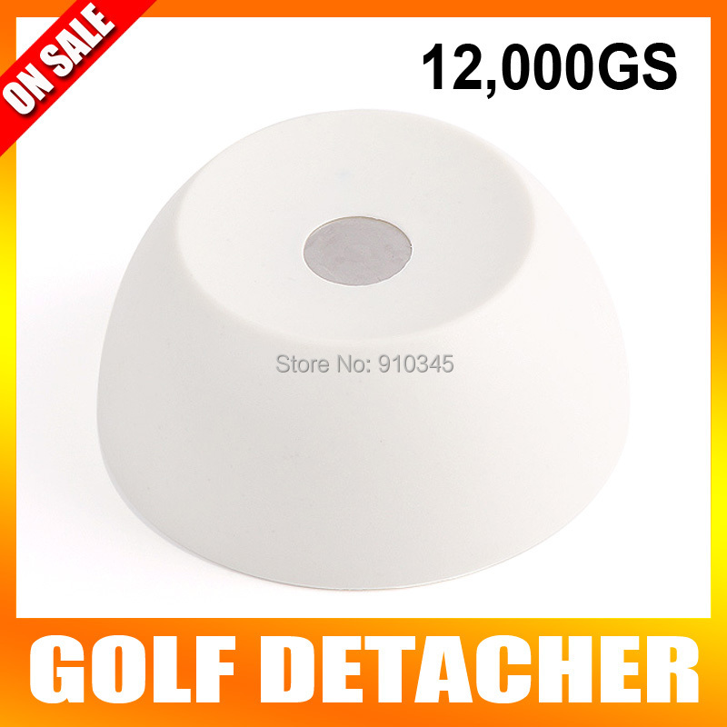 Super Golf Detacher Security Tag Remover EAS Magnetic Intensity12000gs Anti-theft Plastic Material Color Milky White fantastic eas super security tag