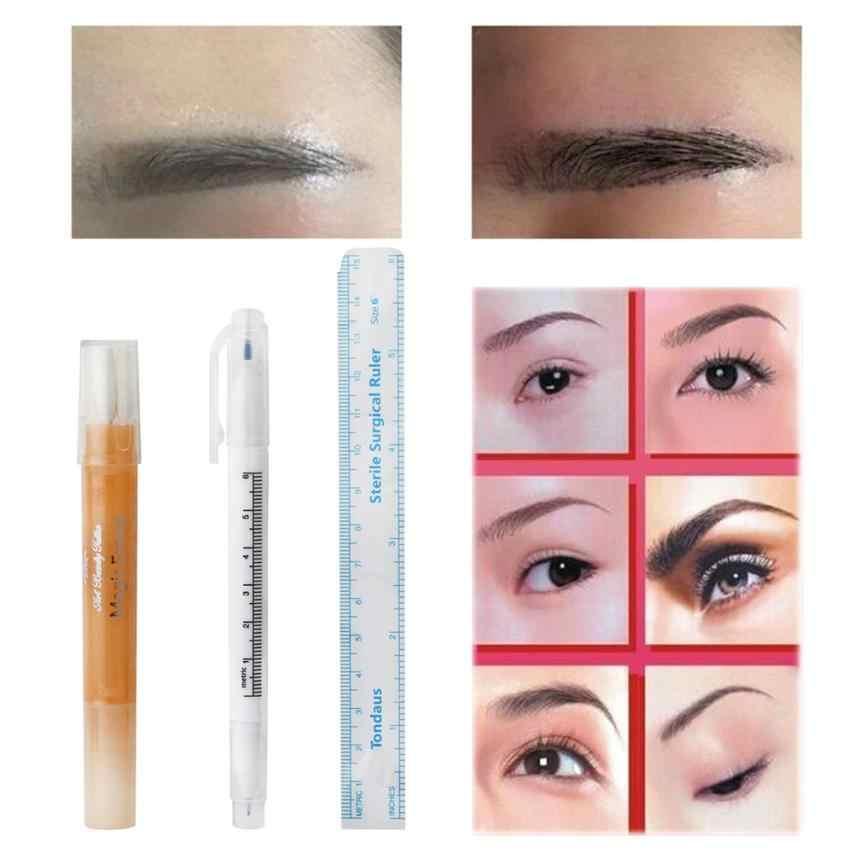Набор инструментов для татуировки Маркер для кожи ручка волшебный ластик инструмент писчий пирсинг макияж набор для чистки 3JU23