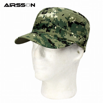 Military Camouflage Hat Cap Adjustable Sunscreen Hat Army Baseball Cap Unisex Snapback Tactical Cap for Outdoor Hunting Fishing