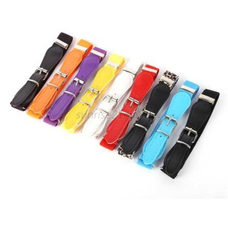Kids Children Boys Girls Wide Elastic Stretch Waist Belt Waistband #S4
