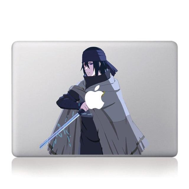 Anime naruto cool uchiha sasuke vinyl decal laptop sticker for apple macbook pro air 11