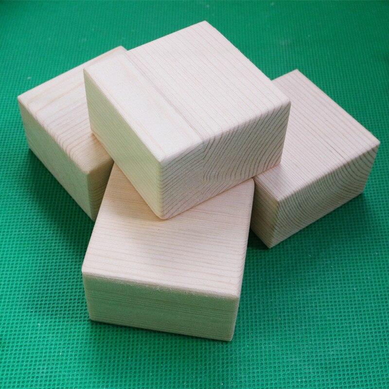 Big Square Solid Wooden Block Sofa Feet Mat Table Highten