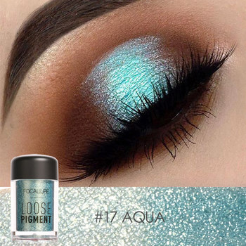 Glitter Eyeshadow pigment powder Green glitter Eye