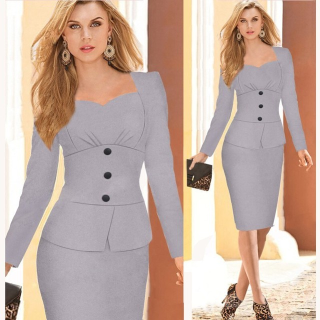 Ladies Elegant Business Suits Blazer with Skirts Formal Office Suit Work Female Uniform Designs Career Pencil Dress