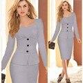 Señoras Elegantes Trajes de Negocios Blazer con Faldas Formales Oficina Diseños de Uniformes de Trabajo Traje Femenino Carrera Vestido Lápiz