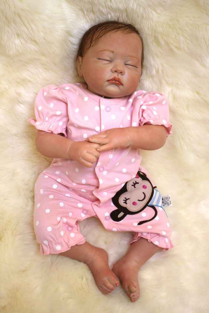Bebes Reborn 20 50cm Real Baby Sleeping Dolls Soft Silicone Reborn Baby Dolls For Girls Child Gift Bonecas Reborn Doll Toys Baby Reborn Dollsreborn Dolls Aliexpress