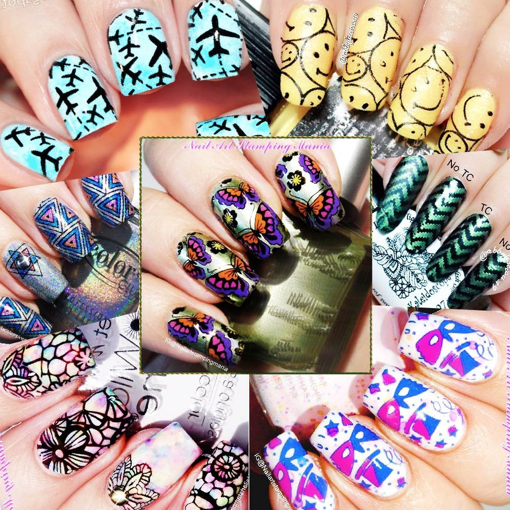 CICI&SISI Nail Stamping Plates Stickers For Nails Designs Stencil ...