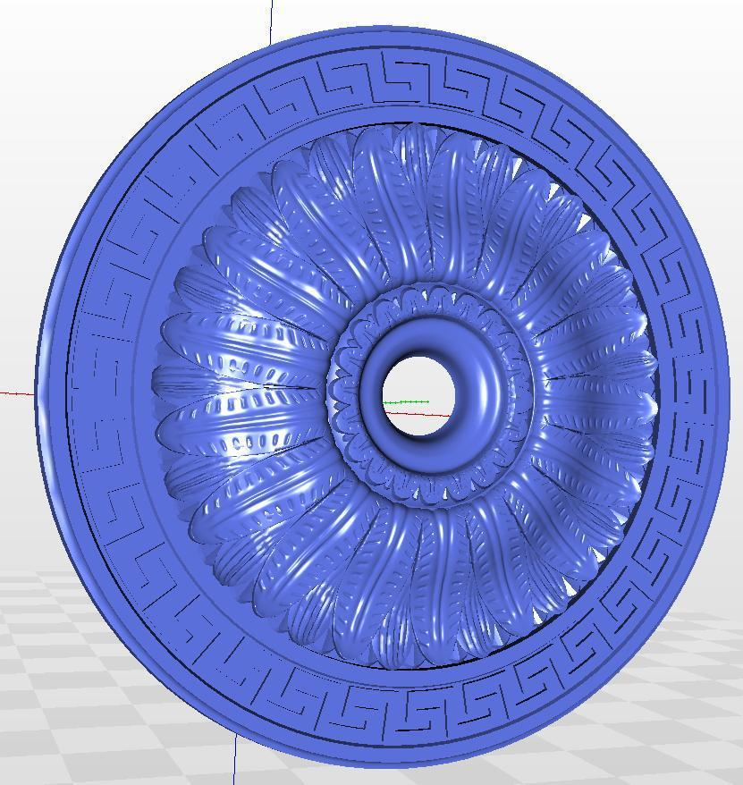 For Cnc In STL File Format 3d Model Relief  Rosette_45