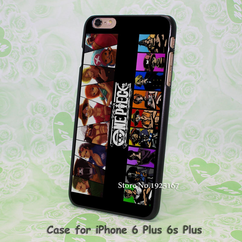 one piece monkey d luffy anime Pattern hard black Case Cover for iPhone 4 4s 5 5s 5c 6 6s 6 Plus 6s Plus