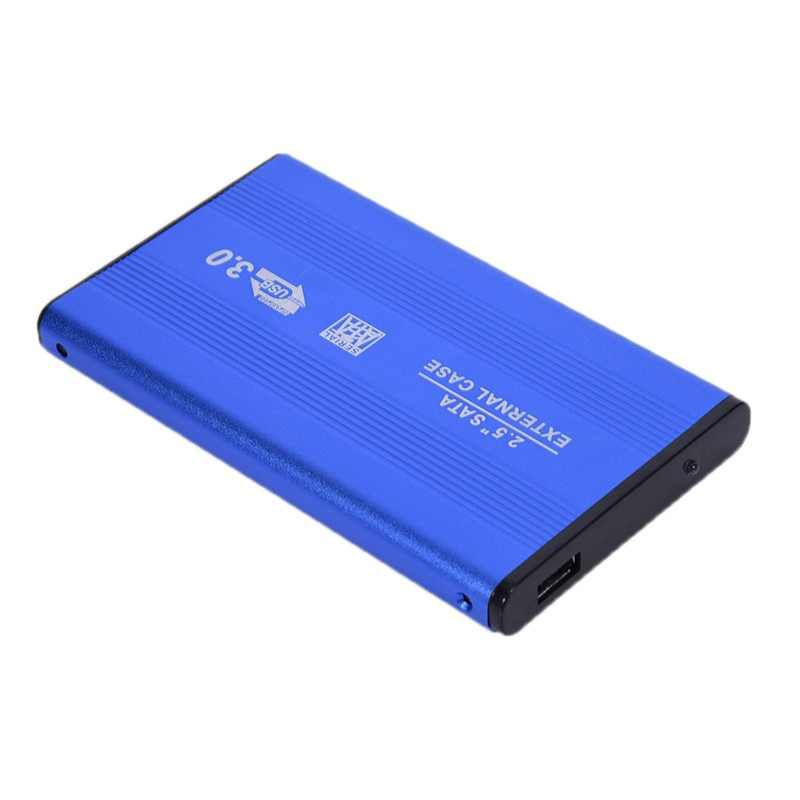 "Blue 2.5"" Inch External Enclosure Case Mobile HDD Enclosure Case USB 3.0 to SATA HDD Hard Drive For Data Backup Windows/Mac OS"