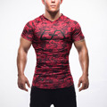 2016 Man T-shirt Tights Fitness Quick Dry Casual Stretch T-shirt Men Brand Top Tee Shirt Fitness Mma  Plus Size Hot Sale