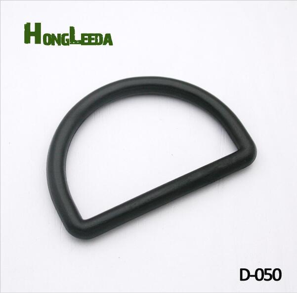 30pcs 51mm 2inch black adjustable buckles plastic slider buckle D ring backpack webbing straps D-050 Buckes