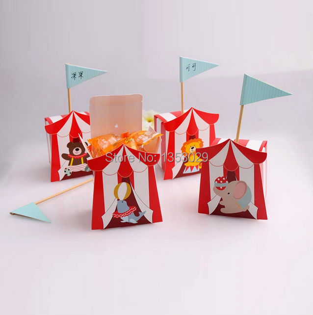 Free Shipping 100pcs Cute Baby Shower Decoration Top Circus Favor Candy Box Wedding Gifts Bo In Gift Bags Wring Supplies From Home Garden On