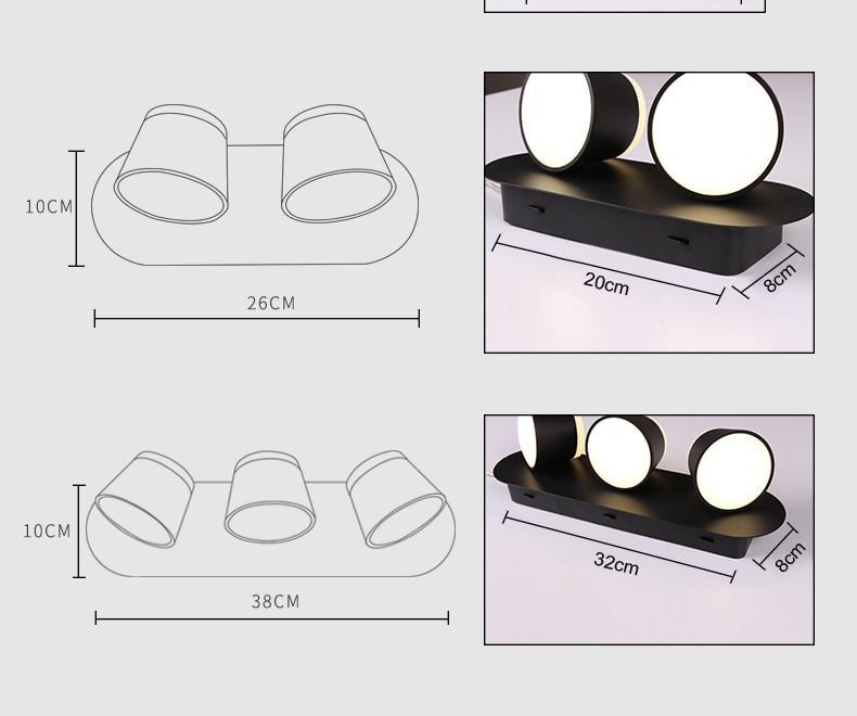 Modern Interior Ajustar Lâmpada De Parede Luzes