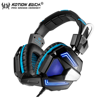 KOTION EACH G5000 Professional PC Game Gaming Headset Stereo HIFI Wired Headphones Comfortable Headband with Microphone led MIC
