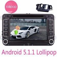 Android 5.1 Quad Core Car headunit Stereo DVD GPS navigation For VW Volkswagen Golf Sharan Jetta Skoda polo Passat caddy Octavia