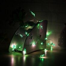 Зеленая, в форме кактуса гирлянда 3M 30 светодиодный декоративный светильник из медной проволоки для комнаты Рождественские огни наружные сказочные огни
