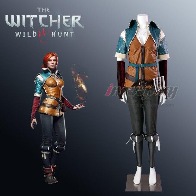 Triss Merigold The Witcher 3: chasse sauvage Triss Merigold uniforme Cosplay Costume sur mesure