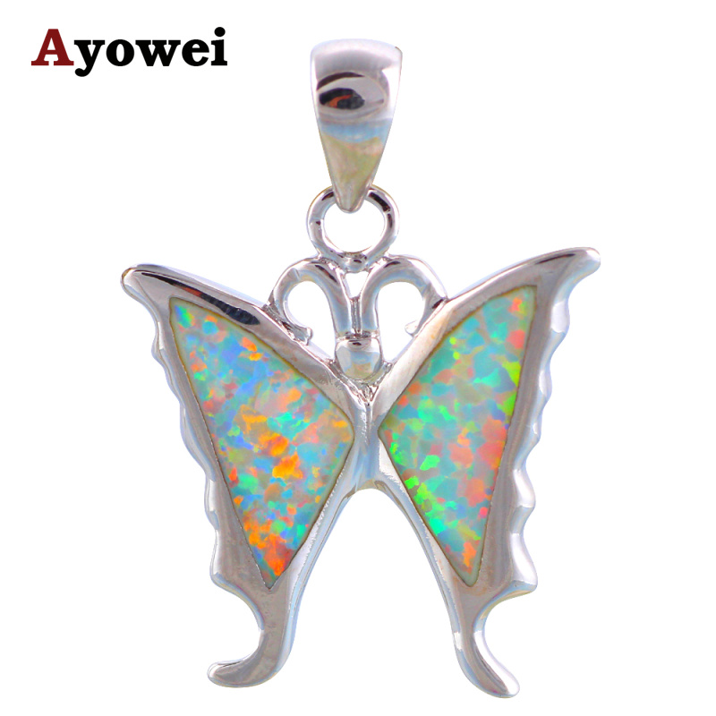 0e077b67f86e8a Animal designer prom items for women White Fire Opal stamp Silver Nacklace  Pendants Fashion jewelry OP535A
