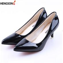 Women Shoes Ladies Pumps Medium Heel Nude Sexy High Heels Weeding Shoes Women Office Work White
