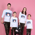 2017 lucky star family matching clothes t shirts family look girl and mother daughter son outfits plus size 5xl tshirts tops