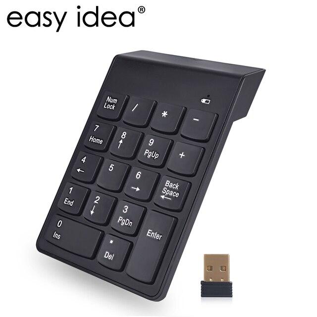 2.4g беспроводное устройство клавиатура USB цифровая клавиатура 18 клавиш мини цифровая клавиатура ультра тонкий номер Pad Высокое качество для вычисления ПК ноутбук