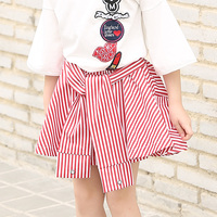 Famous Brand Girls Striped Skirt Baby Kids Basic Summer Spring Skirt For Children Clothes Girls Mini