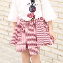 Célèbre Marque Filles Rayé Jupe Bébé Enfants De Base D'été Printemps jupe Pour Enfants Vêtements Filles Mini Jupe jupe Pour Grand enfants
