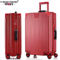 New Lightweight PC Shell Zipper Luggage TSA Suitcase Hardside Rolling Luggage bag Trolley Case travel suitcase wheels