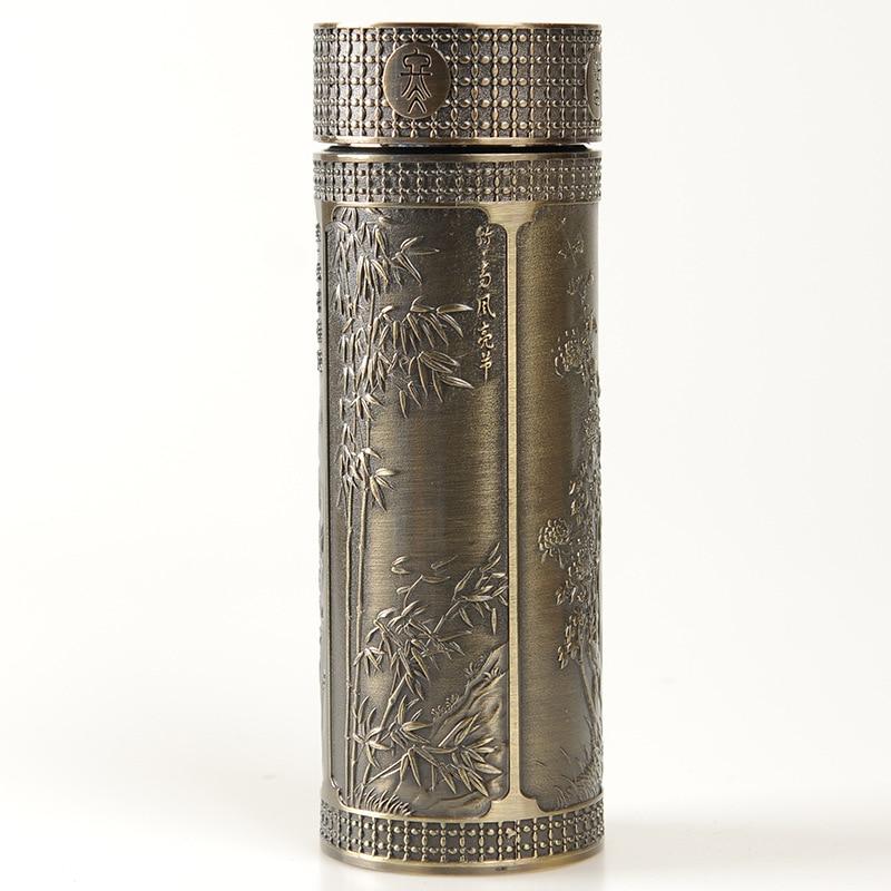 280ml Health Ceramic Vacuum Flasks Men Ladies Office Thermos Quality Gift Zisha Insulation Bottle Free Shipping