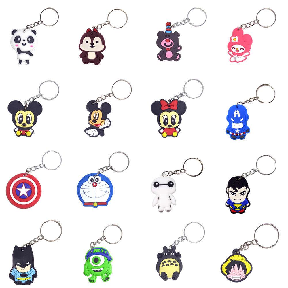 SUTI Avengers พวงกุญแจกัปตันอเมริกา Spider Man Batman พวงกุญแจอะนิเมะญี่ปุ่นผู้ถือ Chaveiro Key Chain กระเป๋าจี้เครื่องประดับ