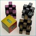 Novo Z de fibra de carbono espelho Cubo mágico 3 x 3 x 3 velocidade Puzzles brinquedos educativos Cubo mágico quebra-cabeça qi Kid