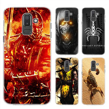 Anime Case for Samsung Galaxy A6 A8 Plus 2018 J4 J6 J8 2018 Clear Hard Plastic PC Fundas Phone Cover Scorpion in Mortal Kombat(China)