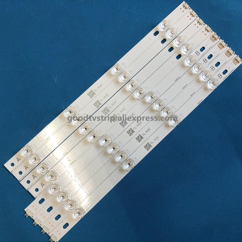 100% NOUVEAU 8 pcs (4 * UN, 4 * B) LED bandes substitué nouveau pour LG INNOTEK DRT 3.0 42 -UN/B Type 6916L 1709B 1710B 1957E 1956E 6916L-1956A