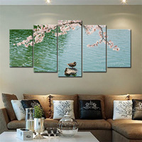 Canvas Printings Duck In pond Modern Landscape Decorative Pictures Wall Art HD Giclee Canvas Prints for Living Room Wall Decor