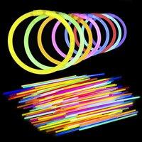 420pcs LED Light Stick Bracelets Necklace Accessories Multi Color Glow Stick Festival Xmas Halloween Luminous Toys for Children