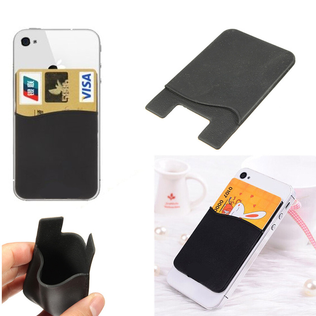 2x Mobile Phone Silicone Wallet Credit Card Cash Holder 3M Adhesive Sticker  Back Case Plastic Bags Craft Packages Organizer Stor c35d9014c1b9