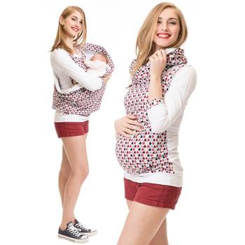 2e6304d9d Maternidad Lactancia Materna con capucha invierno embarazada T camisa  mujeres camiseta de embarazo con capucha Top de lactancia ropa para las  madres ...