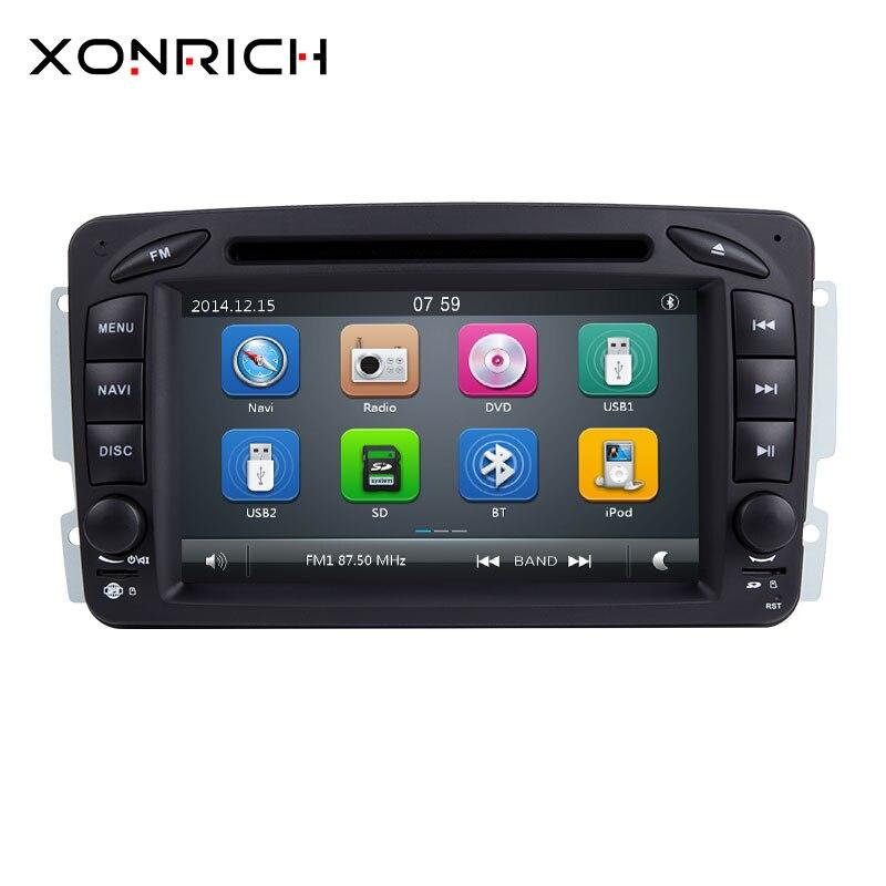 Lecteur multimédia DVD de voiture Xonrich 2Din pour Mercedes Benz W168 Vito W639 Vaneo W639 W203 W209 M/MLW463 Radio Navigation GPS 125mm