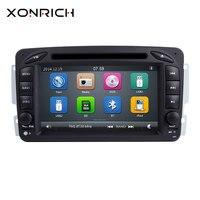 Xonrich DVD мультимедиа плеер 2Din для Mercedes Benz W168 Vito W639 Vaneo W639 W203 W209 M/MLW463 радио gps навигации 125 мм
