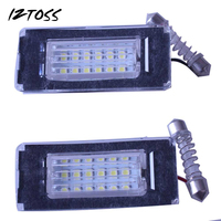 2x High Power Error Free 18 3528 SMD LED License Plate Light Lamp For BMW MINI